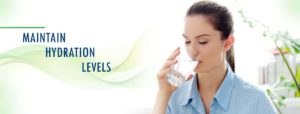 AVOID DEHYDRATION – MAINTAIN HYDRATION LEVELS