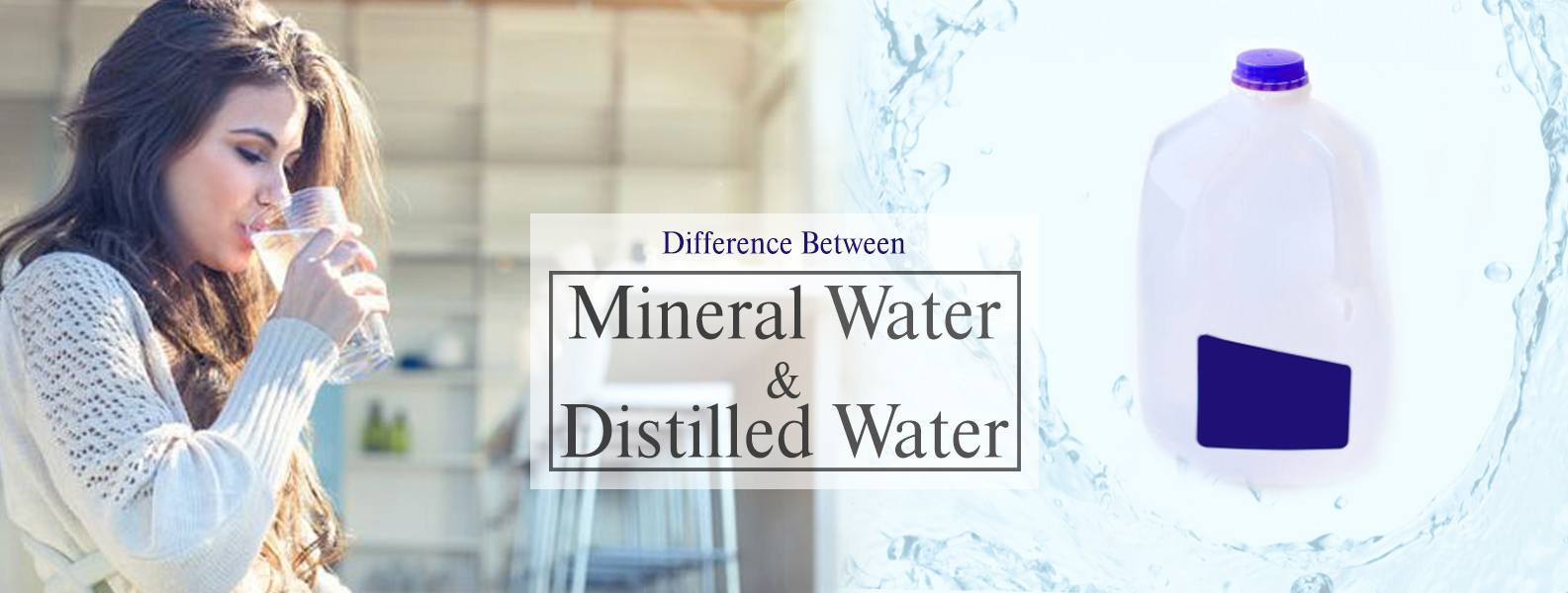 Difference between mineral water and distilled water