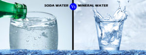 What is the difference between soda water and mineral water ?