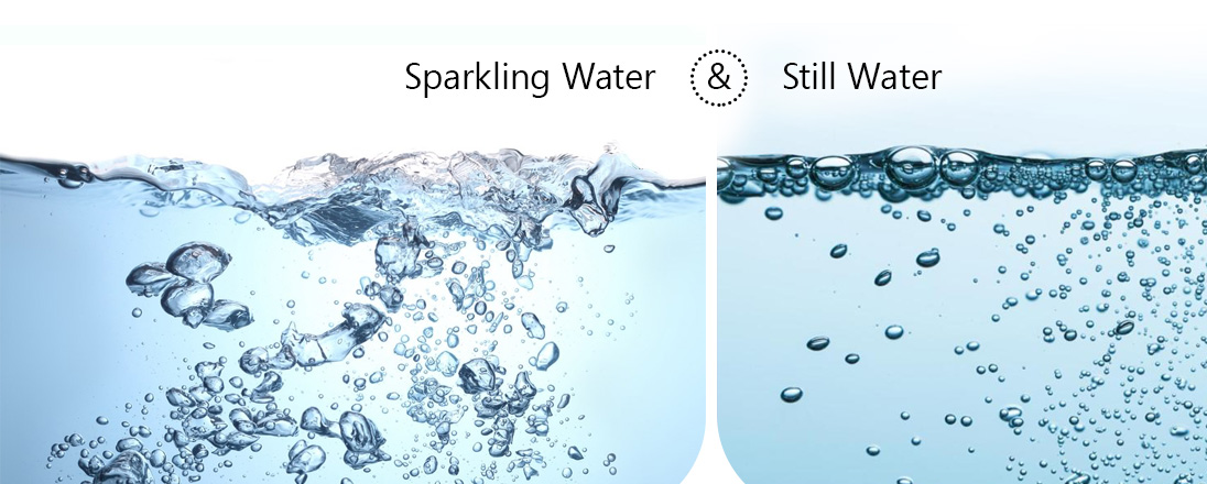 Harmless still water or sparkling devil – choice is yours.