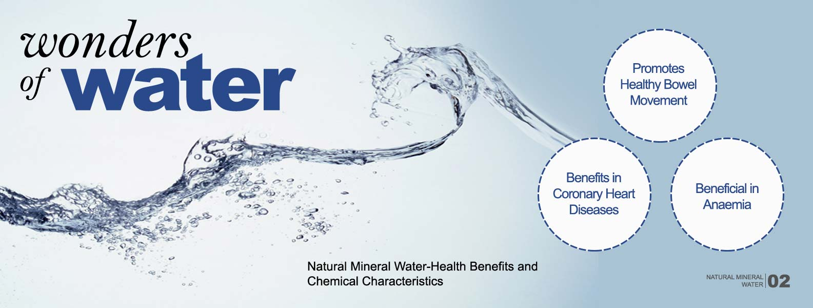 Natural Mineral Water Health Benefits and Chemical characteristics