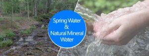 What is the difference between spring water and natural mineral water? Explain