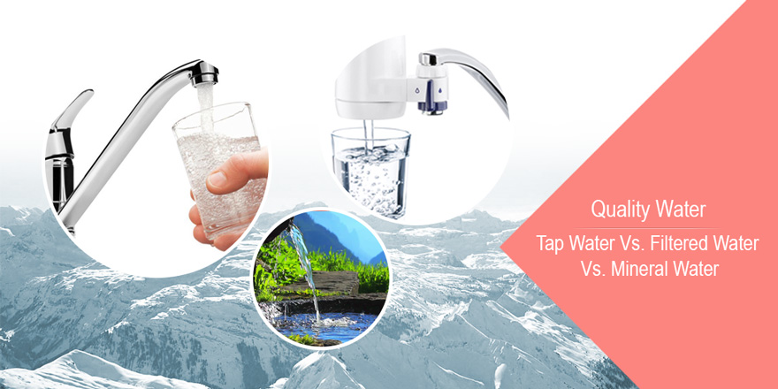 Quality water-Tap Water vs. Filtered water vs. Mineral water